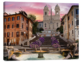 Tableau sur toile  Piazza Di Spagna with the Spanish Steps - Dominic Davison