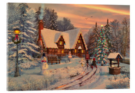 Verre acrylique  Old Christmas Cottage - Dominic Davison
