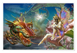 Poster  The dragon and the fairy - Adrian Chesterman
