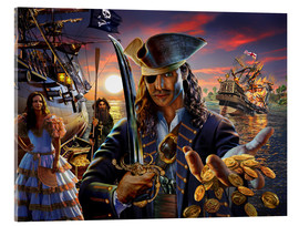 Tableau en verre acrylique  The pirate - Adrian Chesterman