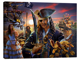 Tableau sur toile  The pirate - Adrian Chesterman