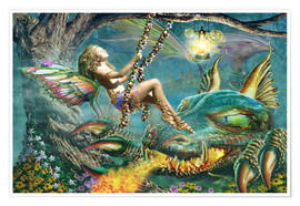 Poster  Dragon and fairy swing - Adrian Chesterman