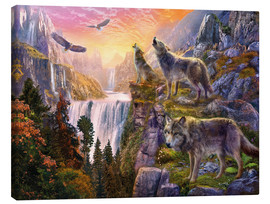Tableau sur toile  The mountain of wolves - Jan Patrik Krasny