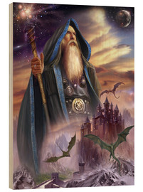 Tableau en bois  The high Mage - Dragon Chronicles