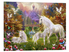 Tableau en PVC  The castle unicorns - Jan Patrik Krasny