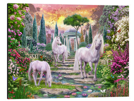 Tableau en aluminium  Classical garden unicorns - Jan Patrik Krasny