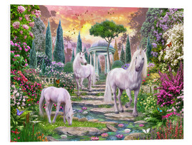 Tableau en PVC  Classical garden unicorns - Jan Patrik Krasny