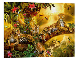 Tableau en PVC  Jungle Jaguars - Jan Patrik Krasny