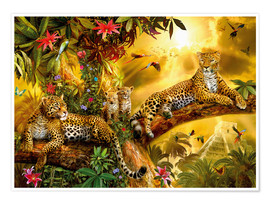 Poster Jaguars dans la jungle