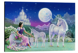 Tableau en aluminium  Unicorn Princess - Feeding foal - Robin Koni