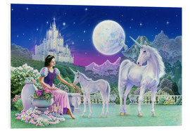 Tableau en PVC  Unicorn Princess - Feeding foal - Robin Koni