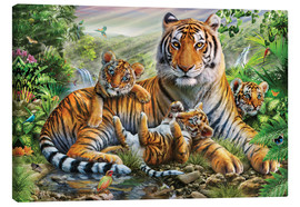 Tableau sur toile  Tiger and Cubs - Adrian Chesterman
