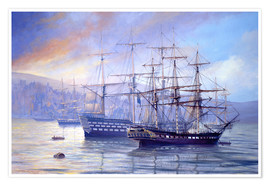 Poster Frigate and 1st Rate c.1815