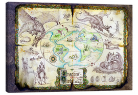 Tableau sur toile  Dragons of the world - Dragon Chronicles