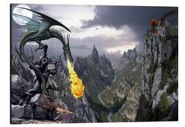Tableau en aluminium  Dragon valley - Dragon Chronicles