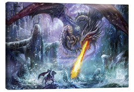 Tableau sur toile  Dragon attack - Dragon Chronicles