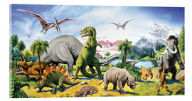 Verre acrylique  Land of the dinosaurs - Paul Simmons