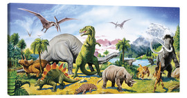 Toile  Land of the dinosaurs - Paul Simmons
