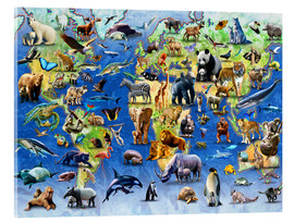 Verre acrylique  One Hundred Endangered Species - Adrian Chesterman