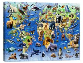 Toile  One Hundred Endangered Species - Adrian Chesterman