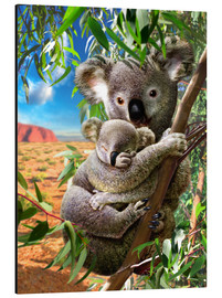 Tableau en aluminium  Koala and cub - Adrian Chesterman