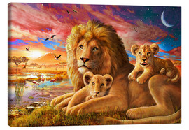 Toile  Lion Sunrise - Adrian Chesterman