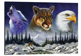 Tableau en aluminium  American wildlife - Chris Hiett
