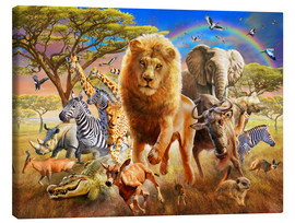 Tableau sur toile  African Stampede - Adrian Chesterman