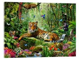 Verre acrylique  Tigre dans la jungle - Adrian Chesterman