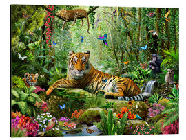 Alu-Dibond  Tiger in the Jungle - Adrian Chesterman
