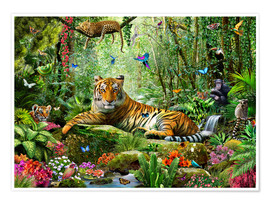 Poster  Tigre dans la jungle - Adrian Chesterman