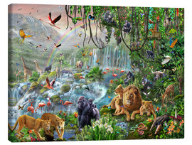 Toile  Jungle Waterfall - Adrian Chesterman