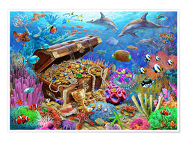 Poster  Undersea Treasure - Adrian Chesterman