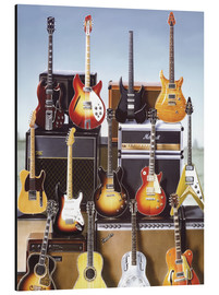 Tableau en aluminium  Guitares - Adrian Chesterman