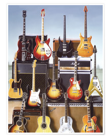 Poster  Guitares - Adrian Chesterman