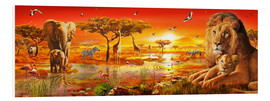 Tableau en PVC  Savanna Sundown - Adrian Chesterman