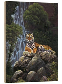 Tableau en bois  Tiger waterfall - Chris Hiett