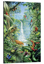 Tableau en aluminium  Save the rainforest - Gareth Williams
