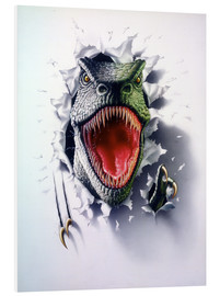 Tableau en PVC  Tyrannosaurus - Gareth Williams