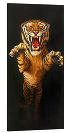 Tableau en aluminium  Leaping Tiger - Garry Walton