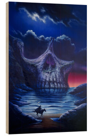Tableau en bois  Skull point - Garry Walton