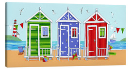 Toile  Colorful beach huts - Peter Adderley