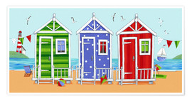 Poster  Colorful beach huts - Peter Adderley