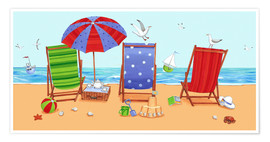 Poster  Deckchairs - Peter Adderley