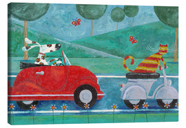 Toile  On The Road With Duke & Sweetpea - Peter Adderley