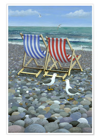 Poster  Deck Chairs - Peter Adderley