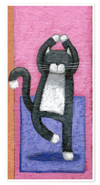 Poster  Yoga for Cats - Peter Adderley