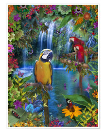 Poster  Bird Tropical Land - Alixandra Mullins