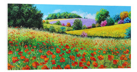 Tableau en PVC  Flower meadow in the province - Jean-Marc Janiaczyk