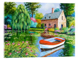 Tableau en verre acrylique  The House Pond - Jean-Marc Janiaczyk